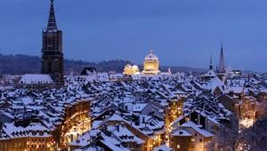 Европа през зимата.